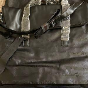 MAC Cosmetics Faux Leather Bag